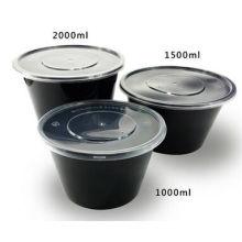 Черный Цвет Пластиковые Одноразовые Контейнеры Для Пищевых Продуктов
