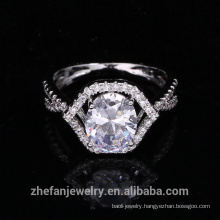 new arrivals 2018 925 sterling silver jewelry oval CZ ring