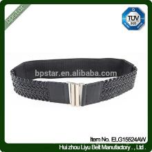 Lady Classic Design Elegant Female Elastic Belt With Braided Waistband Fashion