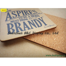 Colorful Printing Logo on Cork, Square Cork Coaster, Cork Place Beer Mat with SGS (B&C-G100)