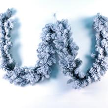 décoration de Noël en plastique blanc neige guirlande de fil