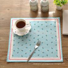 Praça polka dot malha algodão linho tabela mat elegância jantar mat