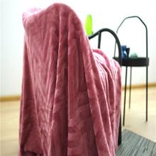 Textiles para el hogar amigables con la piel Mantas de lana de coral de poliéster
