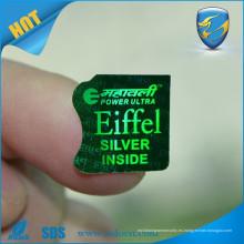 Etiqueta de holograma de seguridad de alta resolución 3D / etiqueta de seguridad de holograma de logotipo / pegatina de holograma auténtico