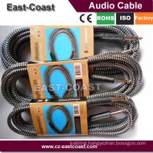 Super Quality Nylon braid 6.35mm Mono male to male guitar cable wire