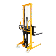 Xilin manual stacker forklift 500kg 0.5 ton 1.6M hand hydraulic forklift manual pallet stacker