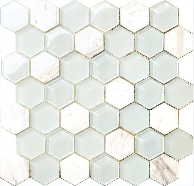hexagon mosaic design