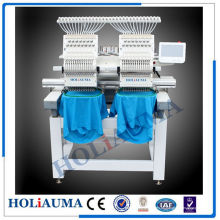 Dos de cabeza 15 Color máquina del bordado del casquillo / toalla Tubular máquina de bordar con sistema de Control de Dahao