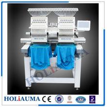 Dois cabeça 15 cor Cap bordado máquina / toalha Tubular do bordado máquina com sistema de controle de Dahao