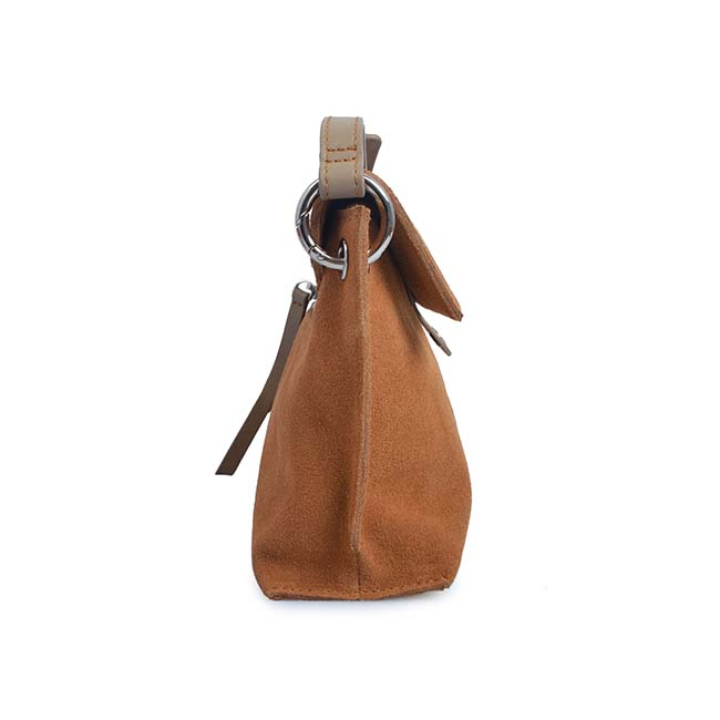 Lock suede and leather lady crossbody bags