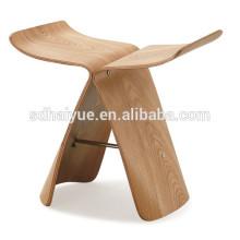 Hot selling oak wood butterfly stool replica Yanagi stool