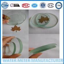 Hoch transparentes Glas für Wasserdurchflussmesser
