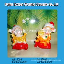 Figurine handmade do macaco do polyresin para a decoração do Natal