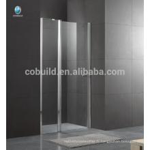 K-536 Foshan dernière conception charnière porte de la salle de douche avec 6mm 8mm verre clair conception simple salle de douche en verre