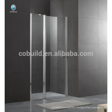 K-536 Foshan latest design shower room hinge door with 6mm 8mm clear glass simple design glass shower room