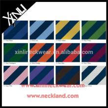 Clássico Jacquard Stripe Tecido 100% Tecido de Gravata De Seda
