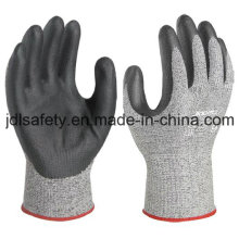 Вырезать защитные перчатки с черной пены нитрила покрытием (NDF8032)