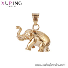 33519 xuping elephant gold Stainless Steel Jewelry pendant