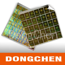 Best Selling Good Quality Full Glossy Hologram Sticker Security