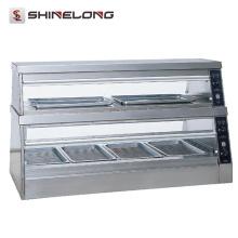 Berufsschnellimbiss-industrieller Glastisch-Nahrungsmittelwärmer-Ausstellungs-Schaukasten