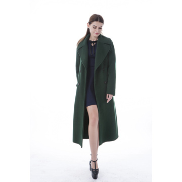 Trendig green cashmere coat