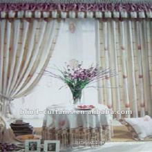 Jacquard curtain with valance