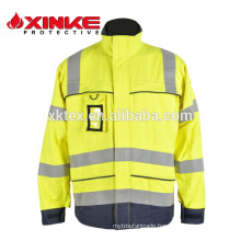 Hi-Vis fire retardant and anti-static fabric for Jacket