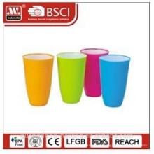 plastic bi-color water cup 0.65L