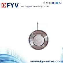 Válvula de retención de oscilación unidireccional de oblea DIN