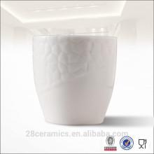 Бесплатный Образец Оптовая Белый Рельеф Керамическая Чашка Кофе