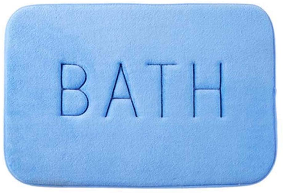 Light Grey Memory Foam Bath Mat