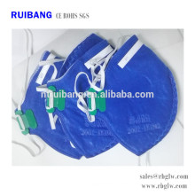 All Kinds of Activated Carbon Face Mask for Anti Pm2.5 and Toxic Gas Blue Type without valve