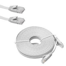 50-футовый плоский кабель Ethernet CAT6 VS круглый
