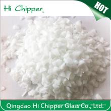 Décoration Chips en verre blanc concassé