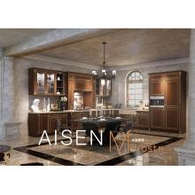 Kopie Massivholz Stil klassischen PVC Küchenmöbel