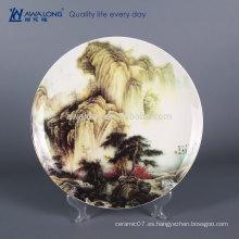 12 pulgadas Nombre Customized Fine Bone China Pintado a mano de porcelana decorativa Placas de pared