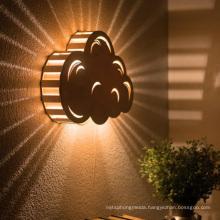 Outdoor Metal Wood Grain Cloud Decoration Light Box LED Sign Lightbox