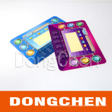 Fashion Colorful Printed Plastic Graphic Overlay for Game Player