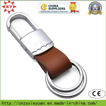 Two Ring Leather Keyholder with Metal Clasp