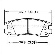 D698 12510016 for BUICK Acura CADILLAC CHEVROLET DODGE MITSUBISHI PONTIAC Icer brake pad