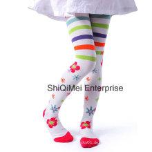 Neueste Mode Jacquard Mädchen Strumpfhosen Baumwollstrumpfhose