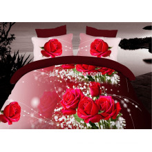 100% polyester 3D designs flower printed fabric for beding