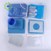 Kit dental desechable con imágenes y nombres quirúrgicos
