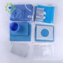 Kit odontológico descartável com imagens e nomes cirúrgicos