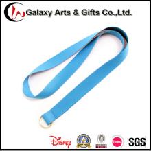 Полиэстер один чистый голубой Одноцветный шнурок с кольцом для ключей
