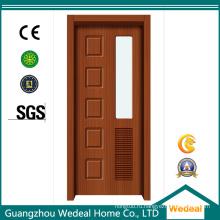 Деревянная дверь из ПВХ с пустотелым сердечником нового дизайна (WDP2033)