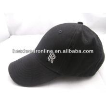 custom black ball cotton cap/with high quality