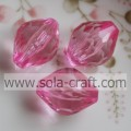 DIY Jewelry Acrylic Bicone Faceted Necklace Beads