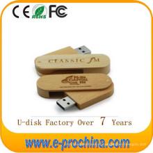 Movimentação de madeira da pena do USB do giro da memória Flash da vara de USB
