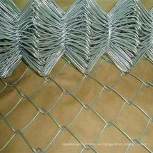 Alambre de diamante galvanizado / malla de enlace de cadena